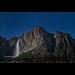 Startrails over Upper Yosemite fall - CA by Dominique Palombieri