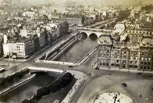 Pre-war view of Paris from Notre Dame