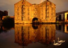 The Calder & Hebble Navigation Warehouse Wakefield UK. Built in 1790