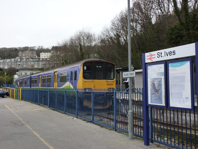 Ex Silverlink train standing at St Ives station