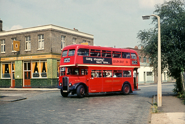RLH58 on the 178 at Hackney Wick 1967