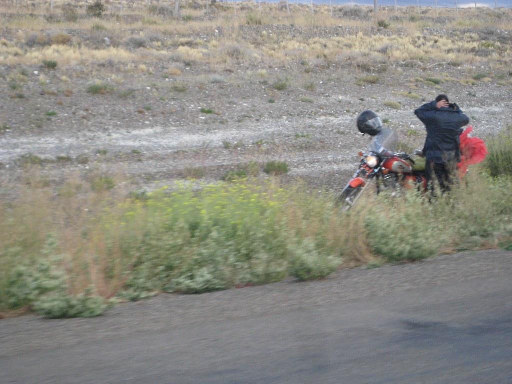 Rider takes a break