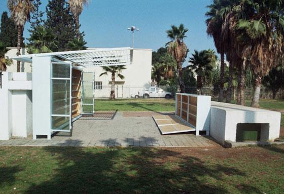 הספרייה הפתוחה בגן לווינסקי, תל אביב. תכנון וצילום: יואב מאירי