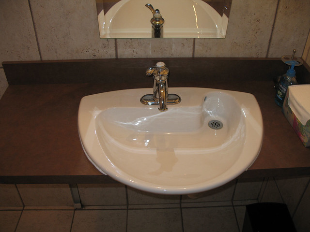 Wheelchair Bathroom Sink : Rear Drain Bathroom Sink Handicapped accessible bathroom s ...