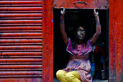 Lets open all doors of color [... Sakharibazar, Old Dhaka, Bangladesh... ]