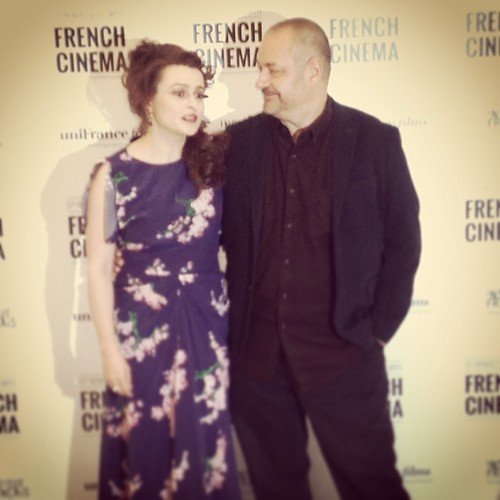 Helena Bonham-Carter and director Jean-Pierre Jeunet (Amélie) at a preview of their new film THE YOUNG AND PRODIGIOUS T.S. SPIVET