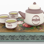 Chinese Tea Set Country 3D Models