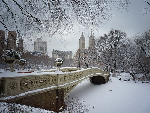 Bow Bridge in the Snow - Central Park - Winter - New York City