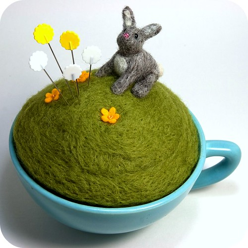 Year of the Rabbit Teacup Pincushion