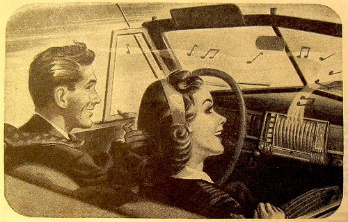 Vintage Advertisement 1940s Car Stereo