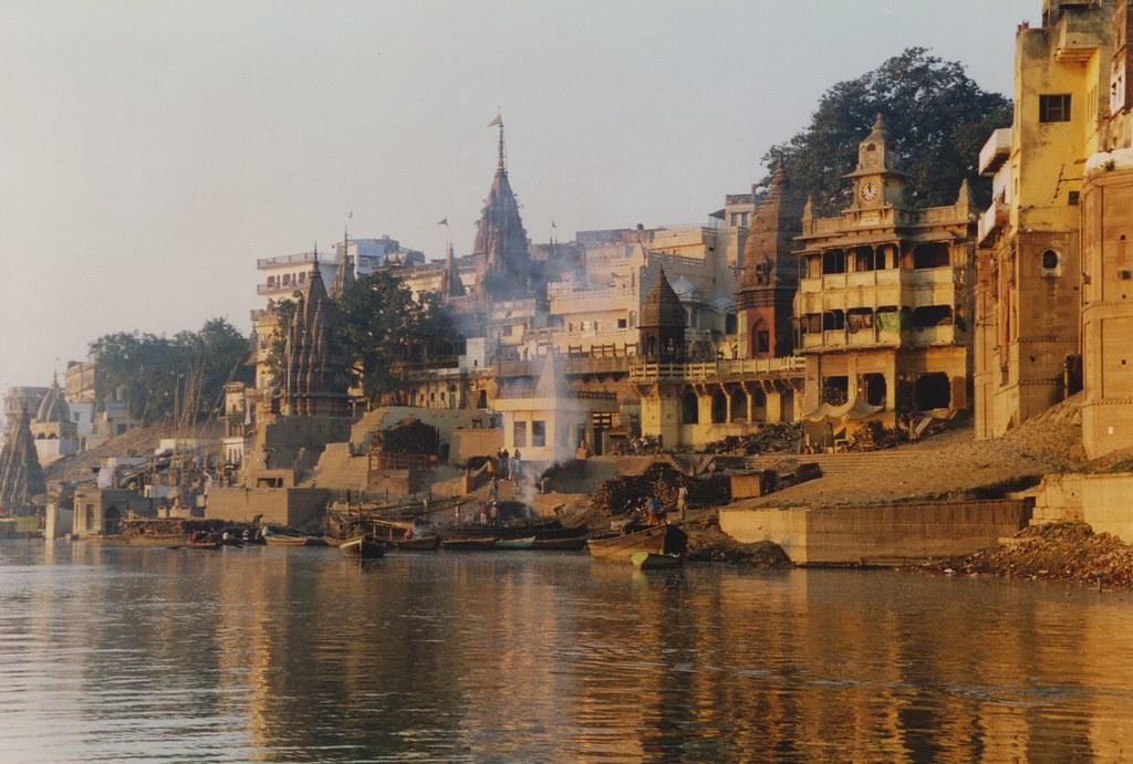 Vista dos 'Burning Ghats'