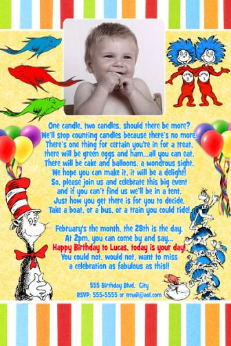 Dr Seuss First Birthday Invitations was very inspiring ideas you may choose for invitation ideas