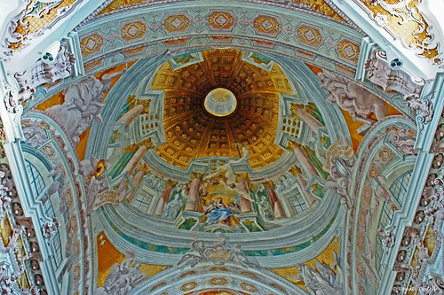 bayern bavaria cathedral dom dome baroque barock freising kuppel dorenawm