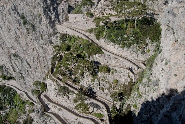 Via Krupp sul costone della montagna