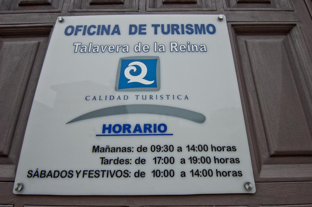 Oficina de turismo de talavera de la reina viajeros sin for Oficina de turismo donostia