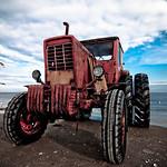 Der Traktor und das Meer (Ostsee_20091106_DSC8224)