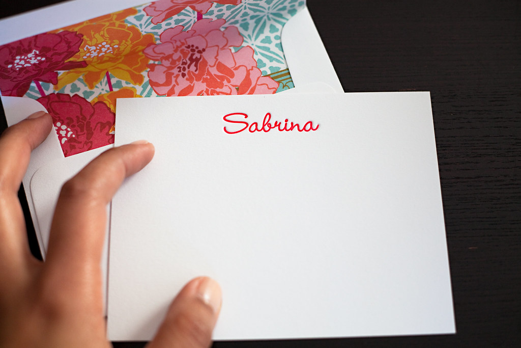 notecard with lined envelope