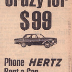 1966 Ford XP Falcon Hertz Rent A Car Ad - Australia