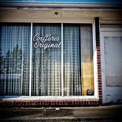 Interesting, empty, abandoned salon