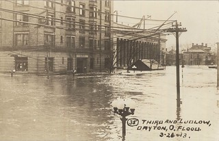 Third and Ludlow, Dayton, OH - 1913 Flood