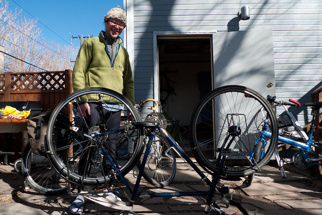 Us Bicycle Traveler Collin
