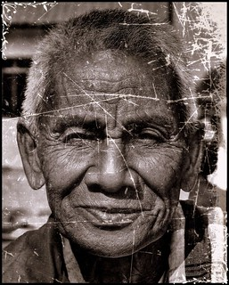 Portrait of an elderly asian man