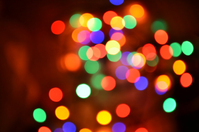 blurry christmas lights merry - photo #17
