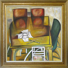 Aleksandar Basic Accommodation oil on canvas (60 x 60 cm)