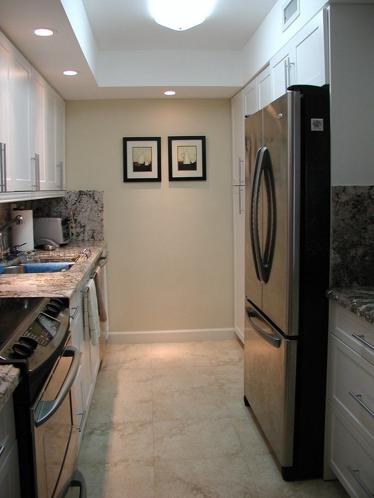 Galley Kitchen Remodel Aventura Condo Completely Gut And R