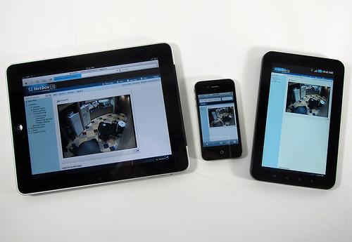 iPad, iPhone and Samsung Galaxy