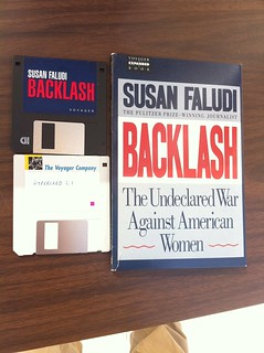 Voyager 1992 Expanded book Susan Faludi's Backlash on floppy w/ #HyperCard 2.1 #ebooks