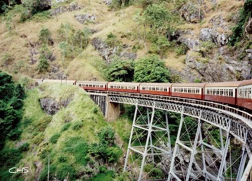 Cairns to Kuranda Railway, Stoney Creek Falls – 22nd June 1990 - Australia 1990 - Photo 059 by Stocker Images