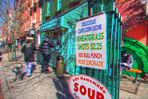 Anaglyph Red Bull Punch--Morning Coffee 2