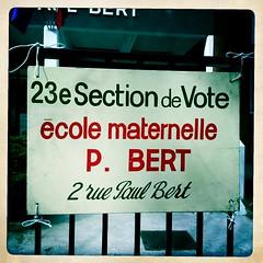 20 mars 2011 Maisons-Alfort Bureau de vote numéro 23