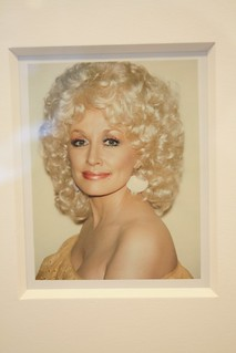 """BIG SHOTS ANDY WARHOL POLAROIDS OF CELEBRITIES"" at Danziger Projects, NYC - Dolly Parton"
