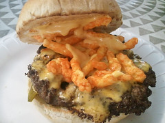 Hubcap Grill - Houston, TX - Cheesy Cheeto Burger
