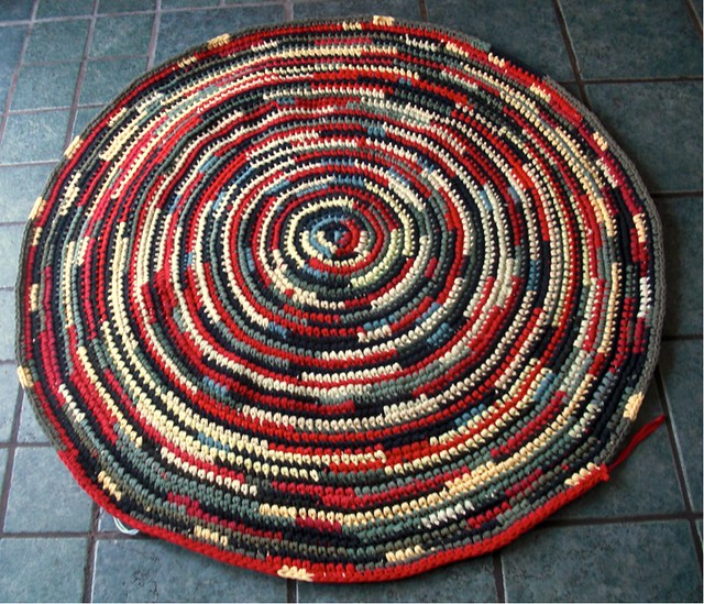 Round Rag Rug Black And White: Flickr - Photo Sharing