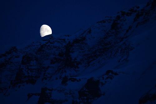 Moon setting