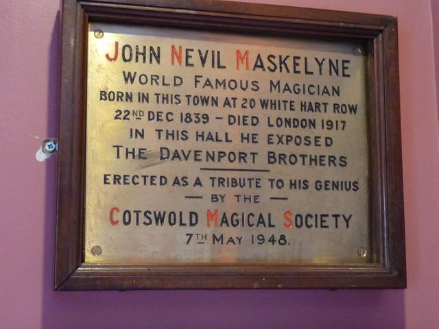 Photo of John Nevil Maskelyne brass plaque