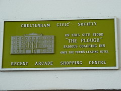 Photo of The Plough, Cheltenham green plaque