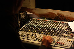 audio engineer, recording, mixing console, analog synthesizer, electronic instrument,