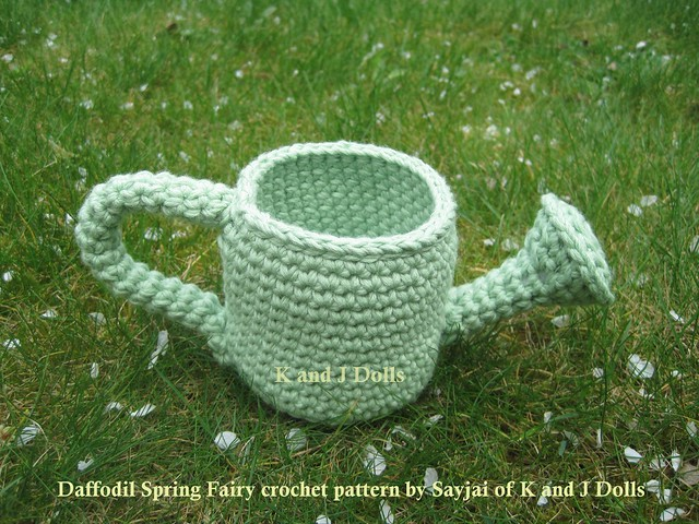 Daffodil Spring Fairy Amigurumi Crochet Pattern : Crocheted watering can Flickr - Photo Sharing!