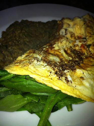 Omelet. Http://www.Foodexperimentblog.wordpress.com
