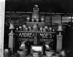 Varesortiment ved Andreas Moes Stentøyfabrikk i Ilsvika (1906)
