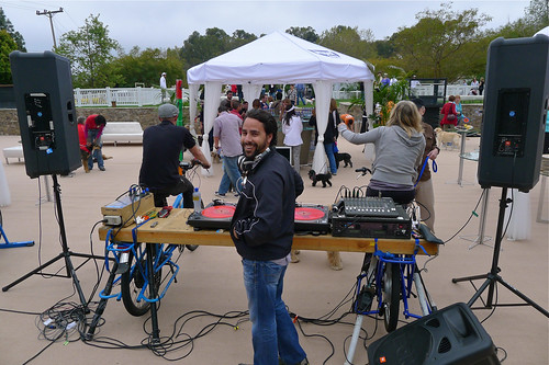 bicycle powered stage