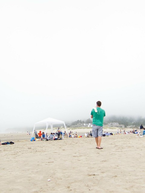 foggy beach day