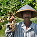 Farmer with peanuts in Lombok, Indonesia