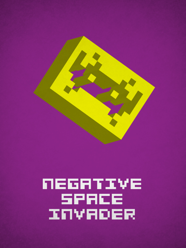 Negative space invader
