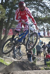 bmx bike(0.0), endurocross(0.0), cyclo-cross bicycle(0.0), cyclo-cross(0.0), downhill(0.0), bicycle racing(1.0), mountain bike(1.0), bicycle motocross(1.0), vehicle(1.0), mountain bike racing(1.0), sports(1.0), race(1.0), freeride(1.0), freestyle bmx(1.0), sports equipment(1.0), downhill mountain biking(1.0), cycle sport(1.0), extreme sport(1.0), cross-country cycling(1.0), bmx racing(1.0), mountain biking(1.0), bicycle(1.0),