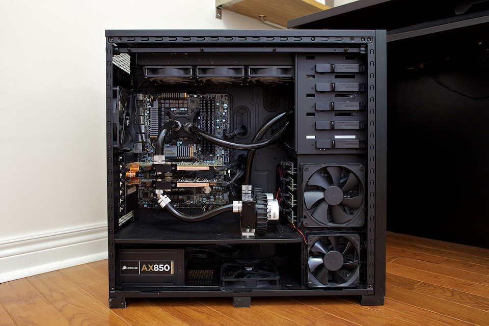 how to clean a water cooler pc
